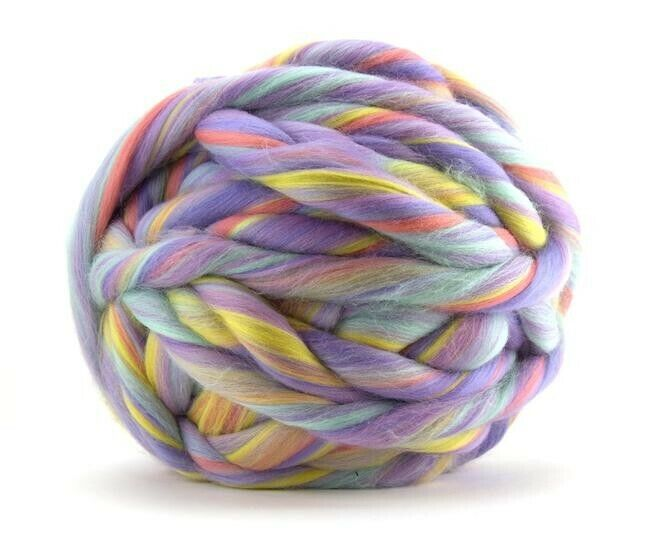 1LB Unicorn Jumbo Yarn 23 mic Merino Top/Roving Wool felting spin hand knit bulk