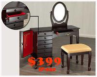 Best Daily Deals, mini bar, tv tables, desks, make up vanities,