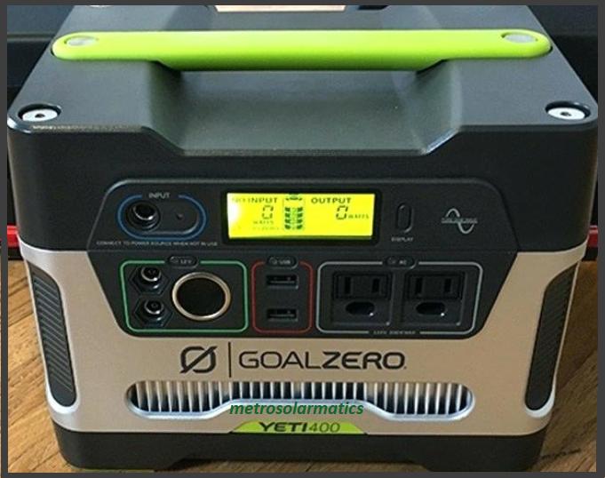 Goal Zero Yeti 400 Portable Power Station, 400Wh Battery Pow