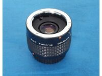 Tokina 2x Tele Converter C/Y Contax Yashica MC in very good condition.