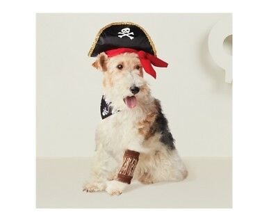 NEW sz M/L dog pet Pirate Halloween costume outfit hat wooden leg sleeve collar](Dog Pirate Outfit)