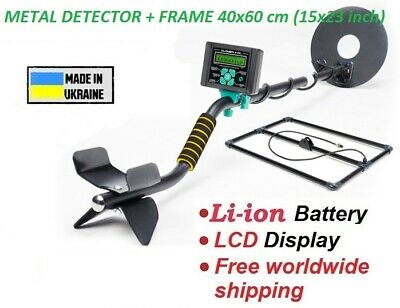 Metal Detector Pulse Lcd Display Search Depth Up To 2-3m Deep Frame 15x23