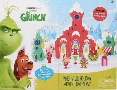 The Grinch Movie Advent Calendar Who-Ville Christmas 14 Figures 11 Accessories