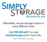 Simply Storage! Located at the end of Lasalle