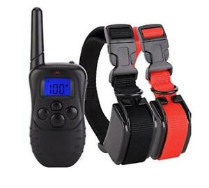 Dog Training Collar for 2 Dogs - Waterproof & Rechargeable with LCD Shock Control - Free Shipping