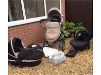 Silver Cross Surf Travel System Sand & Black Colour Pack