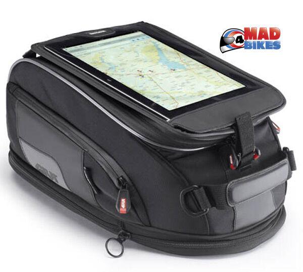 Givi XS307 Tanklock Tank Bag 15L Expandable with iPad, Phone, GPS, Map Holder
