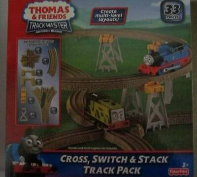 THOMAS AND FRIENDS TRACKMASTER CROSS, SWITCH & STACK TRACK PACK 33 PIECES