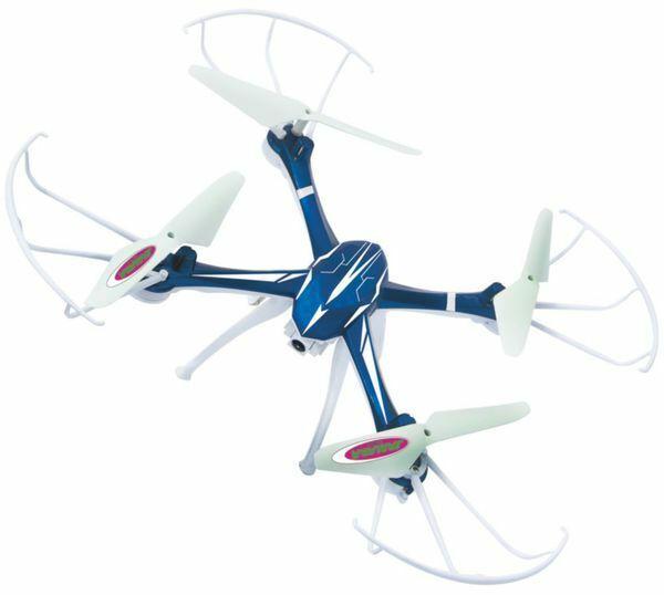 Drohne Quadrocopter Kamera mit Videofunktion Kompass 360° Flip Salto Jamara