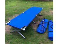 Aluminium & canvas lightweight very strong camping/emergency beds