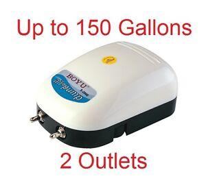 150 Gallon Adjustable Silent Quiet Air Pump Aquarium Fish
