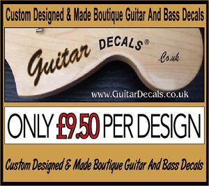 Guitar Neck Waterslide Headstock Decals - Headstock decal -  2 decals for £9.50
