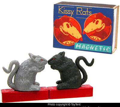 Kissy Rats magnetic kissing magnet toy in keepsake box