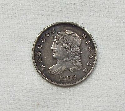 1832 CAPPED BUST HALF DIME EXTRA FINE SUPER SILVER 5C