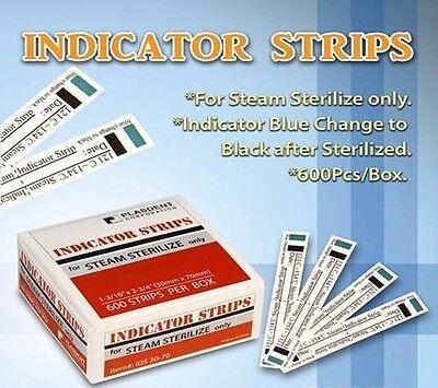 Steam Sterilization Autoclave - Dental Tattoo Indicator Strips Autoclave Steam Sterilization 600 Strips per Box