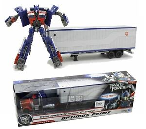 Hasbro Transformers Movie Trilogy Series Optimus Prime With Trailer Mechtech