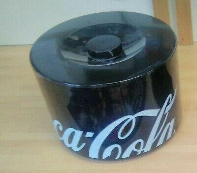 Coca Cola Black plastic Ice Bucket Brand New pub / mancave Home Bar