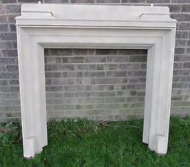 Fantastic Vintage Shabby Chic Wood Fire Surround Fireplace - Delivery Available