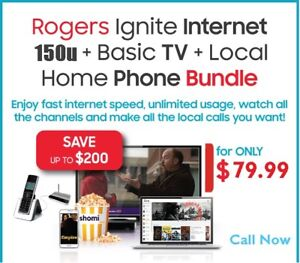 Rogers High Speed Internet And Bundle Deal (NO CONTRACT)