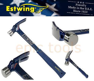 ESTWING E6/19S 19oz ULTRA-Series Claw Framing Nail Hammer, Nylon-Blue Vinyl Grip