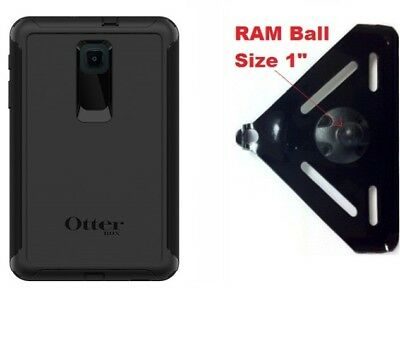 """SlipGrip RAM 1"""" Ball For Mount For Galaxy Tab A 8.0 (2018) Tablet Defender Case for sale  Shipping to India"""