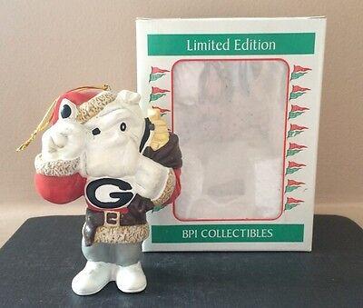 Georgia Bulldogs UGA Santa Christmas Ornament, NCAA College Football, 1996