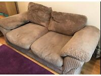 Harvey's jumbo cord mink 2 seater sofa