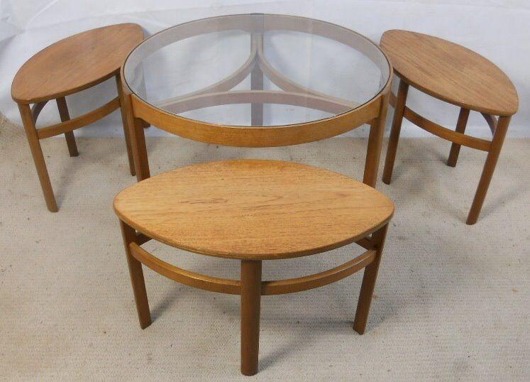 Nathan coffee table, set of four, circa 1970