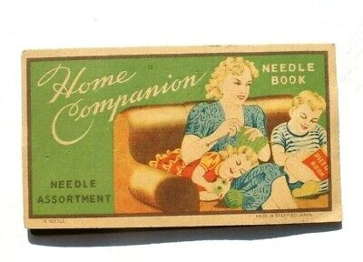 Antique Vtg Needle Book Sample Case Advertising Home Companion Assortment
