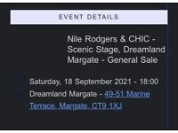 2 x tickets for Niles Rogers and Chic, Horse Meat Disco, and more in Margate