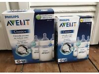 Avent Classic Bottles x6 NEW!!