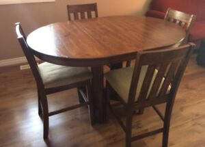 NEED TO SELL ASAP- Bar height dining table and chairs