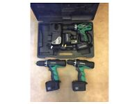 3 HITACHI DRILLS 12v/14.4v WITH CHARGER