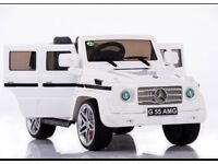 Licensed Mercedes G55 G Wagon ride on car with remote control RUBBER WHEELS (leeds) only £200