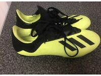 Adidas Football Boots X 18.2 Size Uk 7.5 Yellow & Black Worn Once Rrp £110