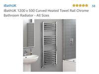 Bathroom heated towel radiator