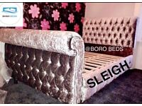 HIGH QUALITY - CRUSHED VELVET BED