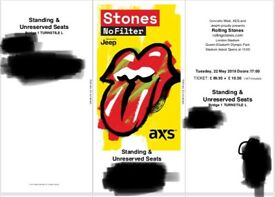 1 x Rolling Stones standing Ticket - Tues 22nd May UNDER FACE VALUE