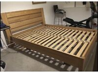 Solid oak M&S Sonoma king size bed frame great quality and condition