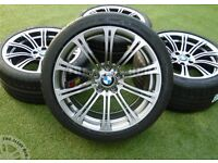 "GENUINE BMW M3 E90 19"" Alloy wheels with tyres"