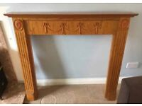 Decorative wooden fire surround / mantelpiece - potential shabby chic project
