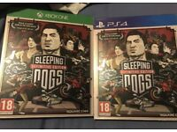 sleeping dogs definitive edition Ps4/Xbox one £10 each