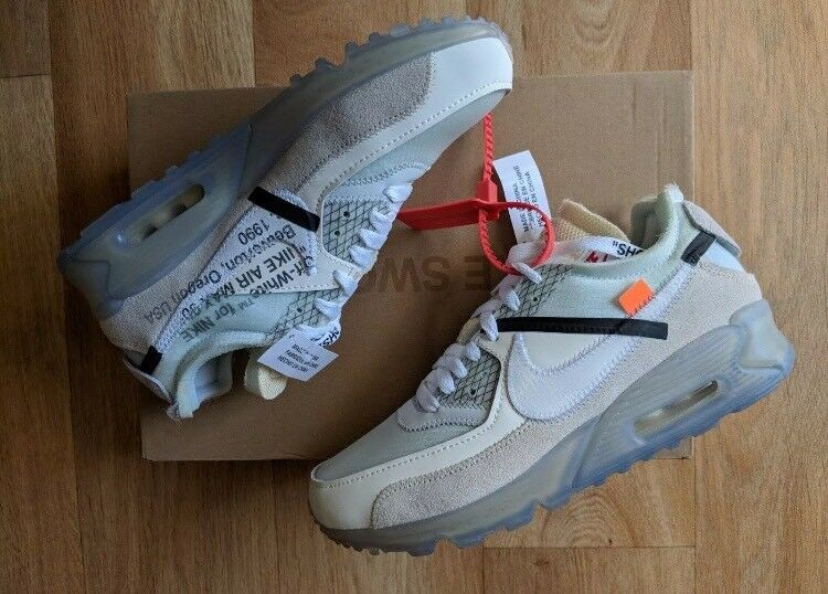 finest selection c8918 81465 Nike Air Max 90 Off white THE TEN genuine size uk 8 us 9 Eu 42.5