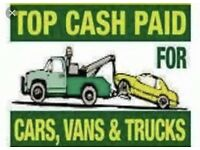 Scap cars vans trucks wanted