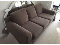 M&S 3 Seater Sofa - light brown VGC