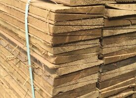 Wooden New Feather Edge Fence Pieces/ Panels/ Boards * Pressure Treated