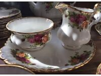 32 piece Royal Albert tea set