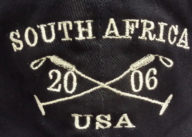 South Africa USA Polo 2006 Cotton Baseball Cap Hat RARE Navy Blue Great Item  - $19.98