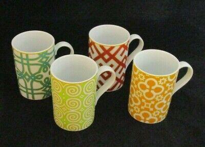 Set of 4 Rosanna Portico Collectible Fine Ceramic Mugs 4 Portico Collection
