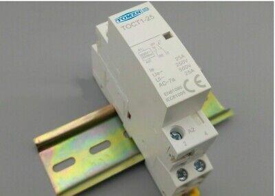 Contactor Modular TOMZN TOCT1 2P 25A 1NC+1NO 220V/230V 50/60HZ para Carril Din